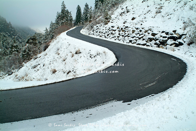Snowy Mountain Road Stock Images, Royalty-Free Images &- Vectors ...