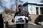 A man is asking informations about a friend, after the Maidan riots in Kiev, Ukraine.<br />  Un uomo chiede informazioni su un amico di cui ha perso le tracce, Kiev, Ukraina.