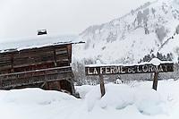 Restaurant La Ferme de Lormay, Le Grand Bornand, France, 15 February 2012.