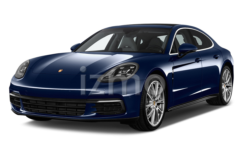 2018 Porsche Panamera 4S 5 Door Hatchback angular front stock photos of front three quarter view
