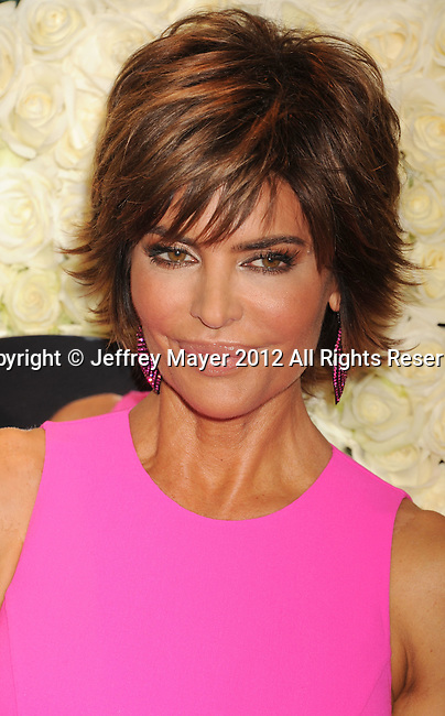 LOS ANGELES, CA - FEBRUARY 23: Lisa Rinna attends the QVC's'Buzz On The Red Carpet' Cocktail Party at Four Seasons Hotel Los Angeles at Beverly Hills on February 23, 2012 in Beverly Hills, California.