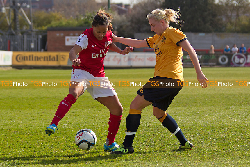 Alex Scott of Arsenal Ladies - Arsenal Ladies vs Everton Ladies - FA Womens Cup Quarter-Final Football at Boreham Wood FC - 25/03/12 - MANDATORY CREDIT: Ray Lawrence/TGSPHOTO - Self billing applies where appropriate - 0845 094 6026 - contact@tgsphoto.co.uk - NO UNPAID USE.