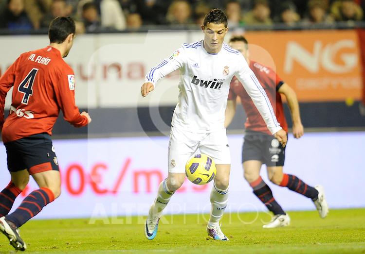 Spanish league match Osasuna vs Real Madrid. Cristiano Ronaldo...Photo : Ricardo Ordonez / ALFAQUI.