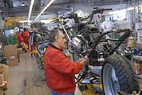 - Motoguzzi motorcycle factory..- fabbrica di motociclette Moto Guzzi