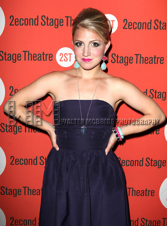 Annaleigh Ashford .attending the after Party for Off-Broadway Opening Night Performance of Second Stage Theatre's 'Dogfight' at HB Burger in New York City.