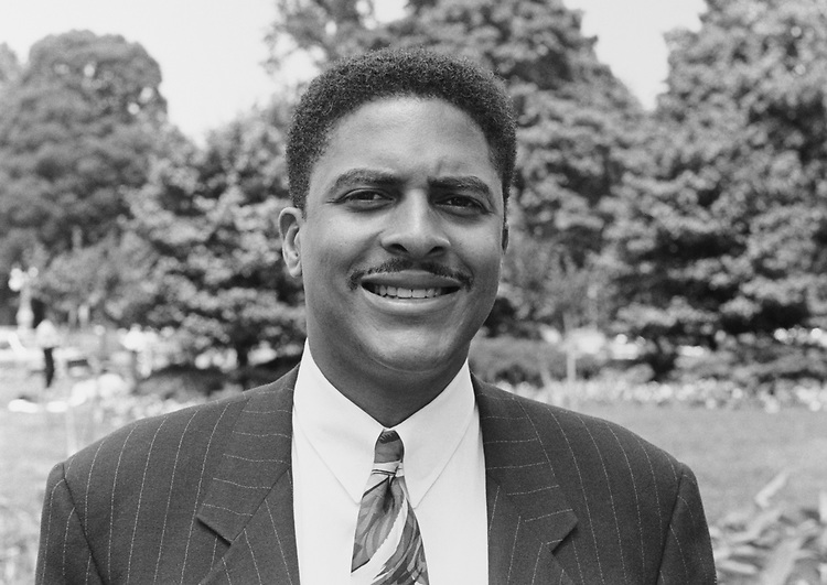 Close-up of Rep. Walter R. Tucker III, D-Calif., on May 31, 1993. (Photo by Chris Martin/CQ Roll Call)