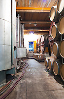 Chateau de Nouvelles. Fitou. Languedoc. Barrel cellar. France. Europe.