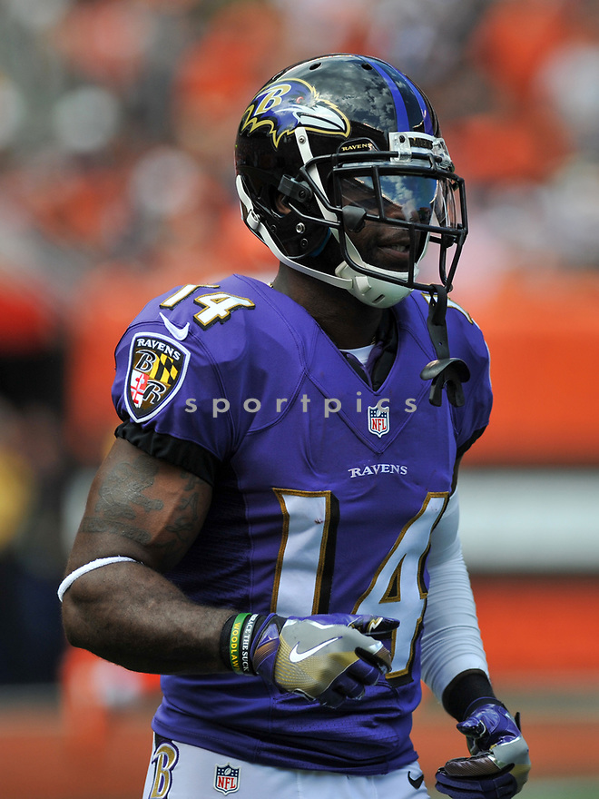 CLEVELAND, OH - JULY 18, 2016: Wide receiver Devin Hester #14 of the Baltimore Ravens walks off the field in the first quarter of a game against the Cleveland Browns on July 18, 2016 at FirstEnergy Stadium in Cleveland, Ohio. Baltimore won 25-20. (Photo by: 2017 Nick Cammett/Diamond Images)  *** Local Caption *** Devin Hester(SPORTPICS)