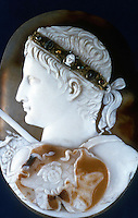 Greek Art:  The Emperor Augustus--Roman sardonyx cameo.  Trustees of the British Museum 1986.
