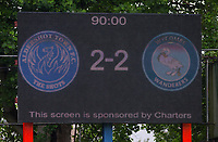Scoreboard at Full-time during the pre season friendly match between Aldershot Town and Wycombe Wanderers at the EBB Stadium, Aldershot, England on 22 July 2017. Photo by Andy Rowland.