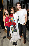 Christy Altomare, Shina Ann Morris and Derek Klena   attends Actors' Equity Broadway Opening Night Gypsy Robe Ceremony honoring Shina Ann Morris for  'Anastasia' at the Broadhurst Theatre on April 24, 2017 in New York City.
