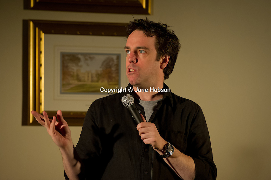 Harrogate, UK. 08/02/12. Sitting Room Comedy Club is back at its regular venue, St George Hotel, Harrogate. The line-up is: MC Tom Taylor, Nick Doody, Danielle Ward and Paul Sinha. Picture shows: Nick Doody. Photo credit: Jane Hobson.