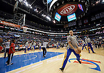 "LOS ANGELES, CA - MARCH 12:  ""One Day One Game""  Stephon Curry of the Golden State Warriors warms up before the game against the Los Angeles Clippers during their NBA Game at the Staples Center  on March 12, 2014 in Los Angeles, California.  (Photo by Donald Miralle for ESPN the Magazine)"
