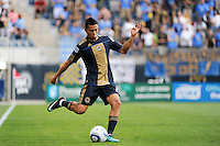 Michael Orozco Fiscal (16) of the Philadelphia Union. The Philadelphia Union and the Kansas City Wizards played to a 1-1 tie during a Major League Soccer (MLS) match at PPL Park in Chester, PA, on September 04, 2010.