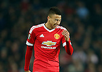 Jesse Lingard of Manchester United dejected during the UEFA Europa League match at Old Trafford. Photo credit should read: Philip Oldham/Sportimage