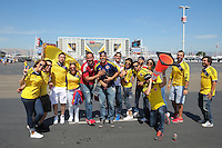 Santa Clara, CA - Friday June 03, 2016: Colombia fans prior to a Copa America Centenario Group A match between United States (USA) and Colombia (COL) at Levi's Stadium.