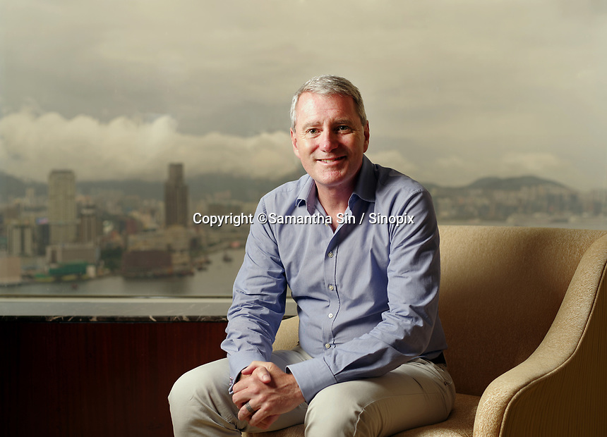 John Wood of Room to Read, poses in the Island Shangri-la Hotel in Hong Kong on Friday 7th July 2017.