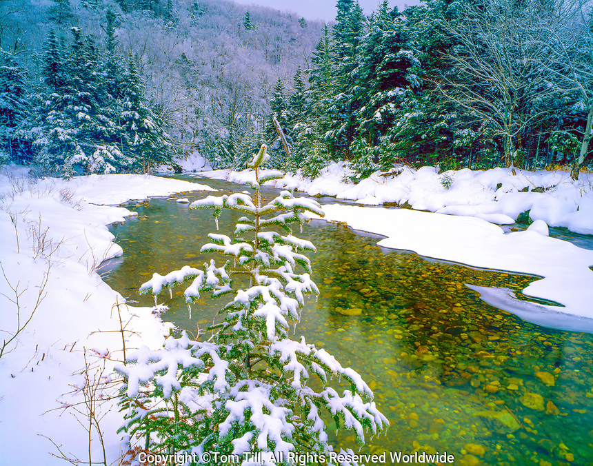 White Mountains in Winter, White Mountain National Forest, Appalachian Mountains, New Hampshire