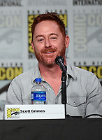 SAN DIEGO COMIC-CON© 2019:  L-R: 20th Century Fox Television's AMERICAN DAD Cast Member Scott Grimes during the AMERICAN DAD panel on Saturday, July 20 at the SAN DIEGO COMIC-CON© 2019. CR: Frank Micelotta/20th Century Fox Television