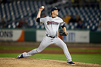 Scranton/Wilkes-Barre RailRiders relief pitcher Brady Lail (24) delivers a pitch during a game against the Syracuse Chiefs on June 14, 2018 at NBT Bank Stadium in Syracuse, New York.  Scranton/Wilkes-Barre defeated Syracuse 9-5.  (Mike Janes/Four Seam Images)