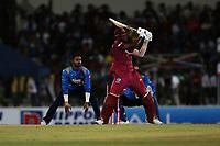 February 26th 2020,the Mahinda Rajapaksha International Stadium, Hambantota, Sri Lanka; One Day International cricket, Sri Lanka versus West Indies; Keemo Paul plays a shot towards the boundary
