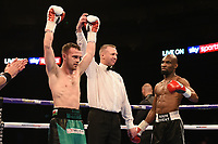 Sean McGoldrick (green shorts) defeats Michael Barnor during a Boxing Show at The O2 on 3rd February 2018