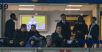 Musicians Jake Bugg & Saint Raymond share a Executive Box with Wycombe Players during the Sky Bet League 2 match between Wycombe Wanderers and Notts County at Adams Park, High Wycombe, England on 15 December 2015. Photo by Andy Rowland.