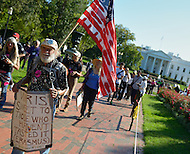"""October 6, 2011  (Washington, DC)  Hundreds of people from around the country descended on Washington for """"Occupy DC"""", a movement that has spread from New York City's """"Occupy Wall Street""""    (Photo by Don Baxter/Media Images International)"""