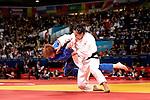 Engeland, London, 31 juli 2012.Olympische Spelen London.Elisabeth Willeboordse verlies van haar Japanse tegenstandster Uendo Yoshie op de Olympische Spelen in London