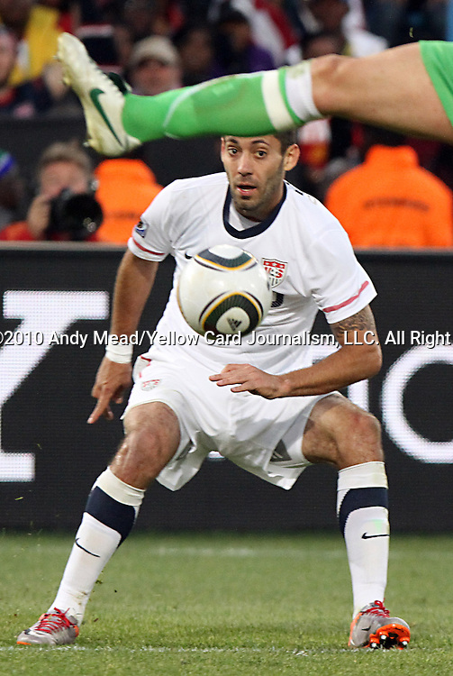 23 JUN 2010:  Clint Dempsey (USA)(8).  The United States National Team defeated the Algeria National Team1-0 on a extra time goal by Landon Donovan at Loftus Versfeld Stadium in Tshwane/Pretoria, South Africa in a 2010 FIFA World Cup Group C match to lead Group C out of group play.