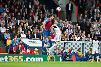 Sun 22 September 2013<br /> <br /> Pictured: Michu of Swansea and Mile Jedinak of Crystal Palace in a mid air challenge<br /> <br /> Re: Barclays Premier League Crystal Palace FC  v Swansea City FC  at Selhurst Park, London