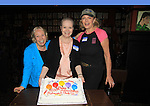 """Denise Pence (Guiding Light """"Katie Parker"""") (R) & Joanne Dorian (One Life To Live """"Vikki Buchanan"""") (C) were a part of The Rehearsal Club Centennial Week starting on June 28, 2013 at Sardis. (Photo by Sue Coflin/Max Photos)"""