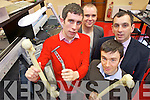 RESEARCH AWARD: A postgraduate research project the ITT recently won the 1st medal prize in the Sylvester O'Halloran National Surgical Conference at the University of Limerick. Pictured were: Paul O'Donoghue, Bob Jackson (Lecturer in Music Technology), Danny Riordan (Lecturer postdoctoral researcher) and John Rice (Head Orthopedic Surgeon KGH).