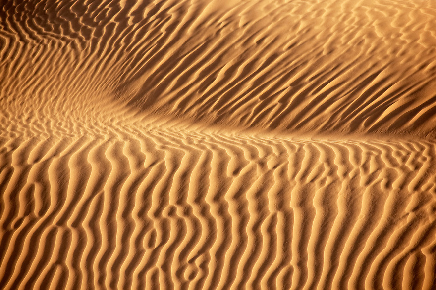 Desert sand pattern in the Sahara desert of Morocco.