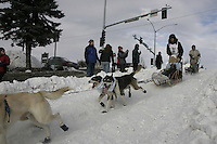 Michael Suprenant in Anchorage on Saturday March 1st during the ceremonial start day of the 2008 Iidtarod Sled Dog Race.