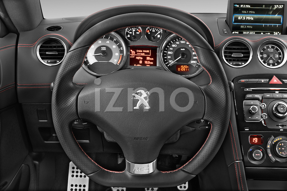 Car pictures of steering wheel view of a 2014 Peugeot RCZ R 2 Door Coupe 2WD Steering Wheel