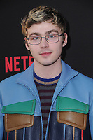 "30 March 2017 - Los Angeles, California - Miles Heizer.  Premiere Of Netflix's ""13 Reasons Why"" held at Paramount Studios in Los Angeles. Photo Credit: Birdie Thompson/AdMedia"