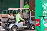 08.09.2017, Weserstadion, Bremen, GER, 1.FBL, Training SV Werder Bremen<br /> <br /> im Bild<br /> Max Kruse (Werder Bremen #10) im Golfcart Johannes Eggestein (Werder Bremen #24), <br /> <br /> Foto &copy; nordphoto / Ewert