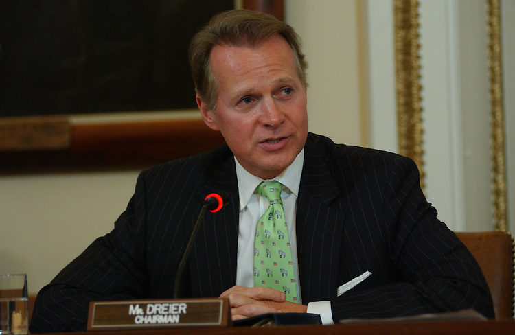 9/28/04.HOUSE RULES--Chairman David Dreier, R-Calif., and Vice during the House Rules Committee meeting considering rules for floor debate for the District of Columbia Personal Protection Act and the Federal Marriage Amendment..CONGRESSIONAL QUARTERLY PHOTO BY SCOTT J. FERRELL