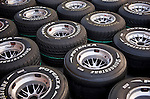 24 Sept 2009, Singapore --- Bridgestone's Potenza wheels are pictured at the Marina Bay street circuit ahead the Fia Formula One 2009 Singtel Singapore Grand Prix, the world's only street night race. Photo by Victor Fraile --- Image by © Victor Fraile/Corbis