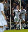 Raith Rovers' Dougie Hill is sent off.