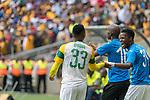 05.01.2019, FNB Stadion/Soccer City, Nasrec, Johannesburg, RSA, Premier League, Kaizer Chiefs vs Mamelodi Sundowns<br /> <br /> im Bild / picture shows <br /> <br /> <br /> Torjubel / Jubel nach dem 1:2 Siegtreffer mit dem Torschuetzen Lebohang Maboe<br /> <br /> Einzelaktion, Ganzkörper / Ganzkoerper<br /> Gestik, Mimik,<br /> <br /> <br /> Foto © nordphoto / Kokenge