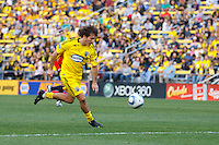 24 OCTOBER 2010:  Columbus Crew midfielder/forward Guillermo Barros Schelotto (7) during MLS soccer game against the Philadelphia Union at Crew Stadium in Columbus, Ohio on August 28, 2010.