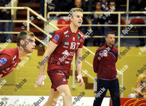 2014-10-29 / Volleybal / seizoen 2014-2015 / Topvolley Antwerpen - Asse-Lennik / Martijn Colson<br /><br />Foto: mpics.be