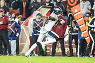Landover, MD - December 30, 2018: Philadelphia Eagles wide receiver Nelson Agholor (13) runs the ball during the  game between Philadelphia Eagles and Washington Redskins at FedEx Field in Landover, MD.   (Photo by Elliott Brown/Media Images International)
