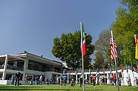 A wide shot of the practice green near the clubhouse and number 1 tee box during the preview of the World Golf Championships, Mexico, Club De Golf Chapultepec, Mexico City, Mexico. 2/28/2018.<br /> Picture: Golffile | Ken Murray<br /> <br /> <br /> All photo usage must carry mandatory copyright credit (&copy; Golffile | Ken Murray)
