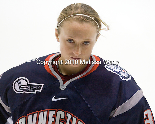 Claire Francis (UConn - 35) - The University of Connecticut Huskies defeated the Northeastern University Huskies 4-1 in Hockey East quarterfinal play on Saturday, February 27, 2010, at Matthews Arena in Boston, Massachusetts.