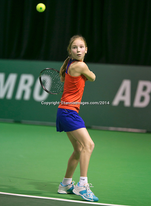 12-02-14, Netherlands,Rotterdam,Ahoy, ABNAMROWTT, Koevermans Kids day <br /> Photo:Tennisimages/Henk Koster
