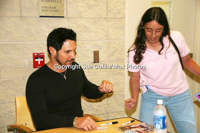 Bold and Beautiful's Don Diamont and fan at Soapstar Spectacular presented by KDKA-TV stars Y&R, BB, GL and ATWT on June 13, 2010 at the Petersen Events Center, University of Pittsburgh, PA and benefited the Susan G. Komen for the Cure Pittsburgh Affiliate. (Photo by Sue Coflin/Max Photos)