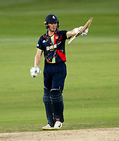 Sam Billings salutes the crowd after his fifty during the Vitality Blast T20 game between Kent Spitfires and Essex Eagles at the St Lawrence Ground, Canterbury, on Thu Aug 2, 2018